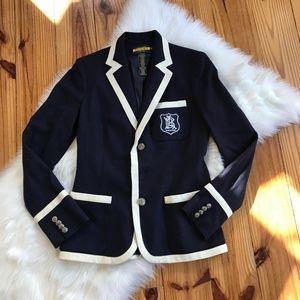 Ralph Lauren Rugby Navy Blue Blazer Size 6